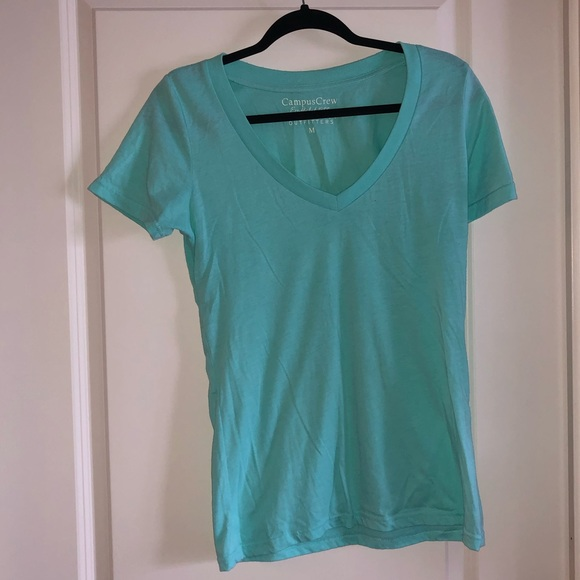 TURQUOISE T-SHIRT FROM CAMPUS CREW